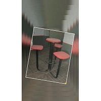 Bancos de madera y hierro con mesa y 3 asientos como nuevos